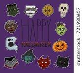 halloween characters set | Shutterstock .eps vector #721930657