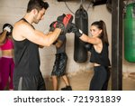 people training during a boxing ... | Shutterstock . vector #721931839