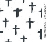 cross symbols seamless pattern... | Shutterstock .eps vector #721932787