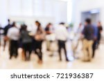 abstract blur group of people...   Shutterstock . vector #721936387