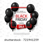 black friday sale background... | Shutterstock .eps vector #721941259