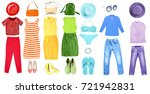 fashion set of rainbow colors... | Shutterstock . vector #721942831