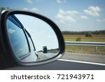 on the road driving a car ... | Shutterstock . vector #721943971