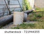 bucket on farm | Shutterstock . vector #721944355