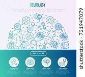 neurology concept in half... | Shutterstock .eps vector #721947079