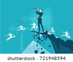 businessmen on top on the... | Shutterstock .eps vector #721948594