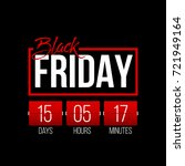 abstract vector black friday... | Shutterstock .eps vector #721949164