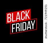 abstract vector black friday...   Shutterstock .eps vector #721949251