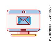 computer technology with e mail ... | Shutterstock .eps vector #721950979