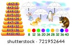 exercise for children with... | Shutterstock .eps vector #721952644