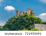 schonburg castle at rhine... | Shutterstock . vector #721955491