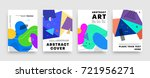 covers templates set with... | Shutterstock .eps vector #721956271