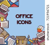 office icons tool and company... | Shutterstock .eps vector #721956721