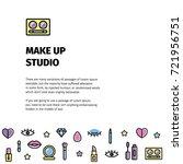 make up flyer for beauty studio.... | Shutterstock .eps vector #721956751