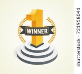 first place competition winner. ... | Shutterstock .eps vector #721958041