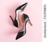 fashion blog look. black women... | Shutterstock . vector #721958851