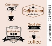 set of badges for coffee shop.... | Shutterstock .eps vector #721959595
