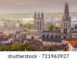 burgos cathedral on plaza de... | Shutterstock . vector #721963927