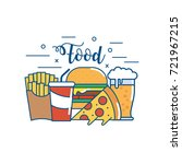 tasty fastfood nutrition and... | Shutterstock .eps vector #721967215