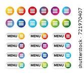 web menu icon colorful set