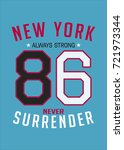 new york poster design... | Shutterstock .eps vector #721973344