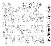 vector illustration of outline... | Shutterstock .eps vector #721976059