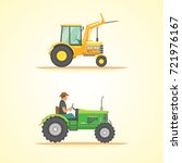farm tractor icon vector... | Shutterstock .eps vector #721976167