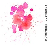colorful abstract watercolor... | Shutterstock .eps vector #721980535