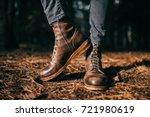 odd woodcutter in vintage... | Shutterstock . vector #721980619