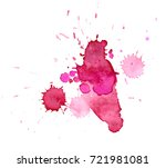 colorful abstract watercolor... | Shutterstock .eps vector #721981081