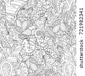 tracery seamless pattern.... | Shutterstock .eps vector #721982341