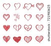 hand drawn heart doodle vector  ...   Shutterstock .eps vector #721983625