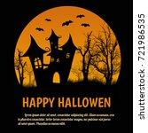 happy halloween poster with... | Shutterstock .eps vector #721986535