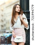outdoor portrait of young... | Shutterstock . vector #721994779