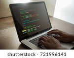 user or hackers hand or finger... | Shutterstock . vector #721996141