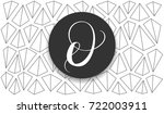 luxury brand hand drawn line... | Shutterstock .eps vector #722003911