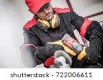 caucasian construction worker...   Shutterstock . vector #722006611