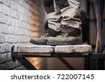 scaffold use in construction... | Shutterstock . vector #722007145