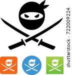 ninja warrior icon | Shutterstock .eps vector #722009224