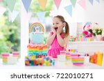 kids birthday party with... | Shutterstock . vector #722010271