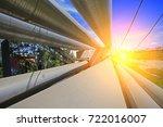 industrial pipeline equipment ... | Shutterstock . vector #722016007