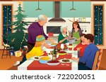 a vector illustration of family ... | Shutterstock .eps vector #722020051