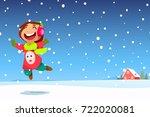 a vector illustration of happy... | Shutterstock .eps vector #722020081