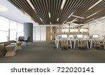 3d rendering business meeting... | Shutterstock . vector #722020141