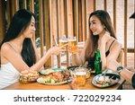 friendship party celebration in ... | Shutterstock . vector #722029234