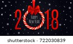 happy new year 2018 background... | Shutterstock .eps vector #722030839