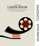movie and film modern retro... | Shutterstock .eps vector #722032945