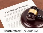 last will and testament on... | Shutterstock . vector #722034661