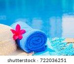 red frangipani  plumeria ...   Shutterstock . vector #722036251