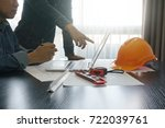 architects and engineer... | Shutterstock . vector #722039761